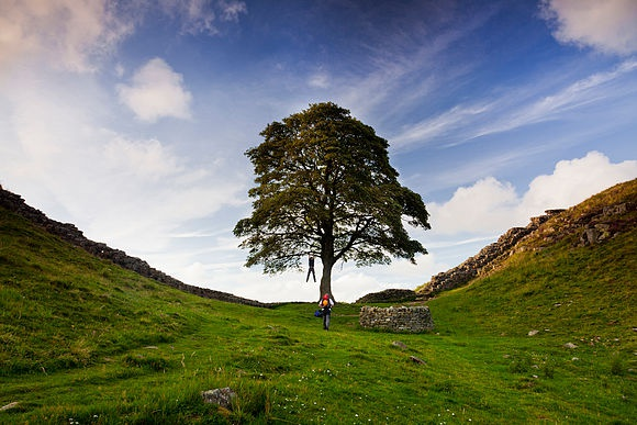 Hadrian's Wall Stunning scenery in the English countryside