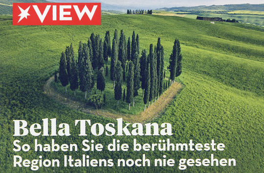 New Images > Bella Toscana Guido Cozzi's beautiful images of Tuscany feature in View Magazine in Germany