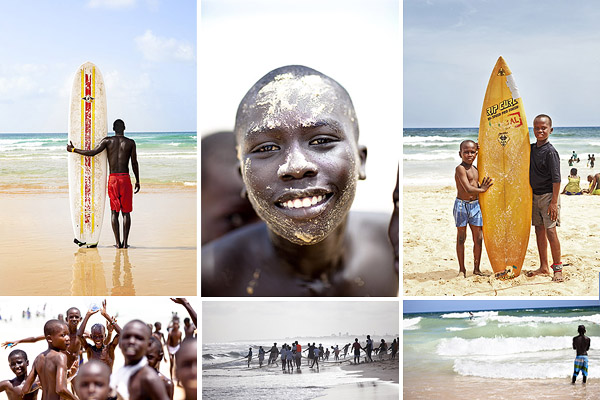 Travel Reportage> Life's a Beach by Tim White Dakar's golden sands are the city's gym, playground and the heart of the community
